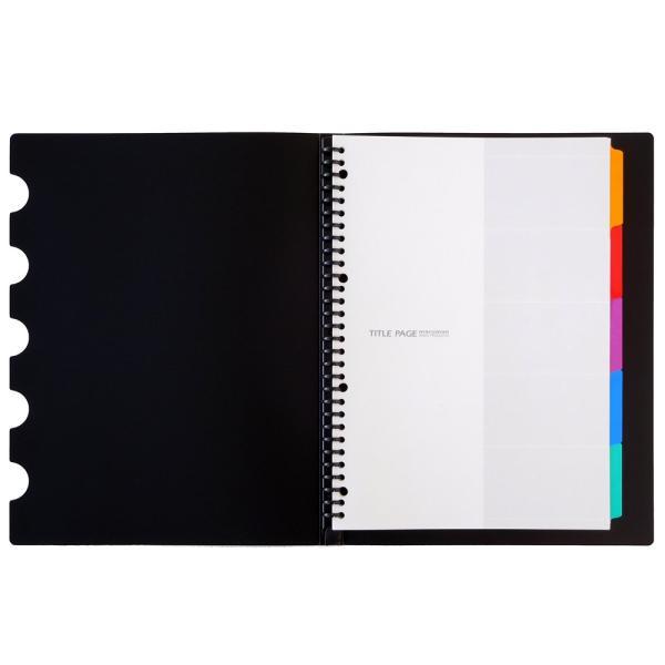プラスチックバインダー ファイルノート ファイブチャート A4(30穴) 背幅18mm F483 【maruman/マルマン】[DM便不可]|artandpaperm|02