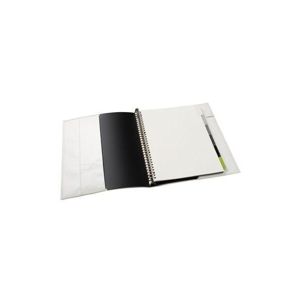 【名入れ無料】メタルバインダー ファイルノート ジウリス A4(30穴) ブラック F988A-05 【maruman/マルマン】[DM便不可]|artandpaperm|03