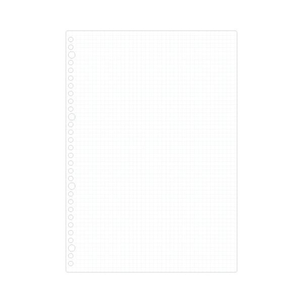 『書きやすいルーズリーフ』 A4(30穴) 筆記用紙80g/m2 5mm方眼罫 50枚 L1107 【maruman/マルマン】[DM便(1)]|artandpaperm|02