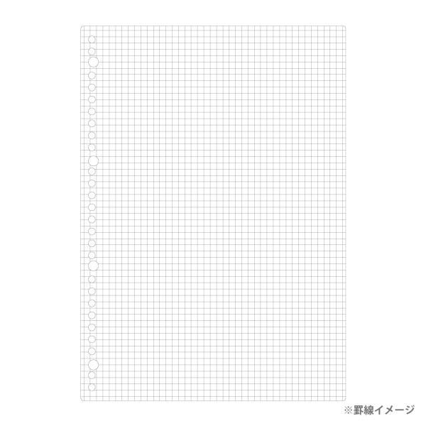 ルーズリーフ 書きやすいルーズリーフ A4 30穴 筆記用紙80g/m2 5mm方眼罫 100枚 L1107H マルマン (DM便 ネコポス1点まで)|artandpaperm|03