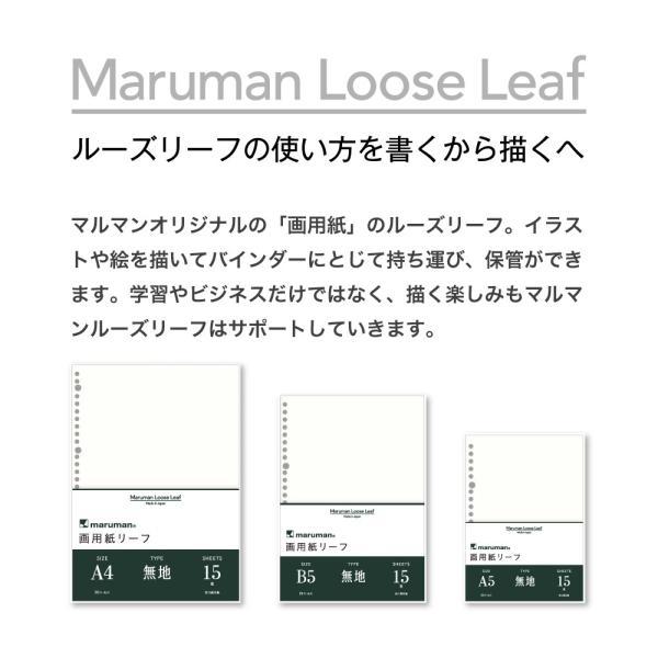 画用紙リーフ 無地 A4(30穴) 並口(中性紙) L1135【maruman/マルマン】[DM便(1)] artandpaperm 05