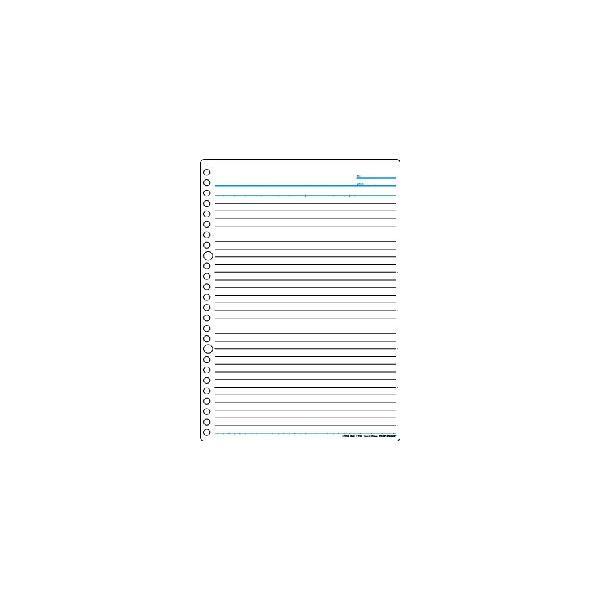 『書きやすいルーズリーフ』B5(26穴) 31行 筆記用紙80g/m2 メモリ入り7mm罫 50枚 L1200 【maruman/マルマン】[DM便(1)]|artandpaperm|02