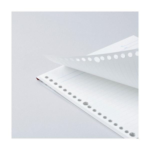 ルーズリーフ 書きやすいルーズリーフパッド B5 26穴 筆記用紙80g/m2 36行 メモリ入6mm罫 50枚 L1201P マルマン (DM便 ネコポス2点まで) artandpaperm 02