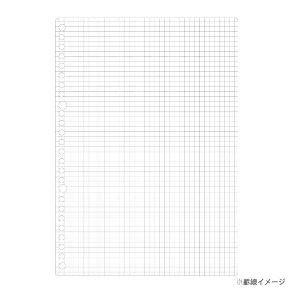 ルーズリーフ 書きやすいルーズリーフ B5 26穴 筆記用紙80g/m2 5mm方眼罫 100枚 L1207H マルマン (DM便 ネコポス2点まで)|artandpaperm|03