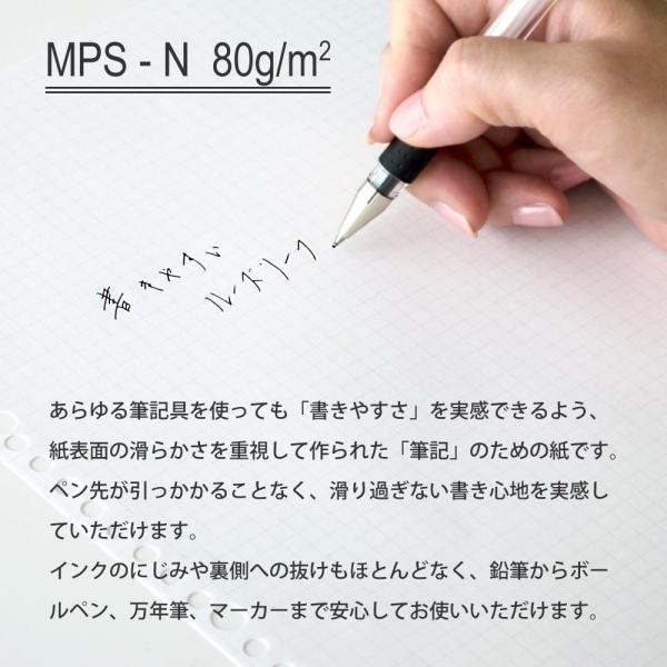 ルーズリーフ 書きやすいルーズリーフ B5 26穴 筆記用紙80g/m2 5mm方眼罫 100枚 L1207H マルマン (DM便 ネコポス2点まで)|artandpaperm|05