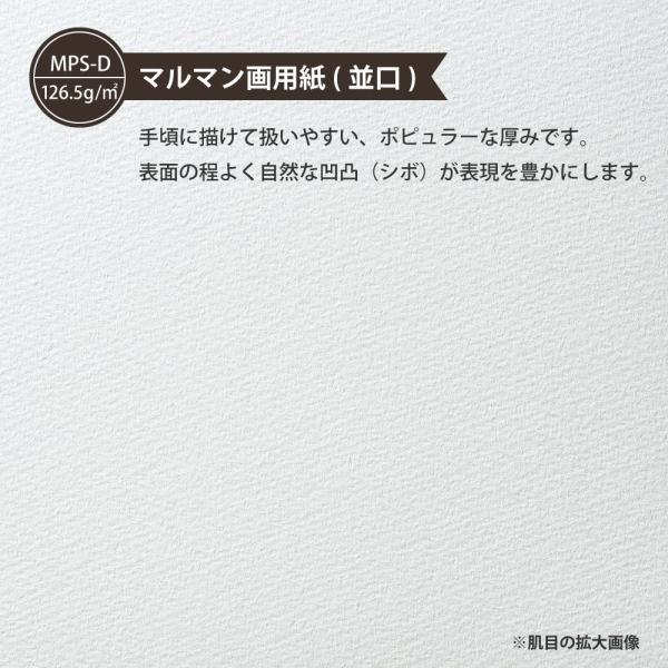 ルーズリーフ 画用紙リーフ 無地 B5 26穴 並口 中性紙 L1235 マルマン (DM便 ネコポス2点まで)|artandpaperm|04