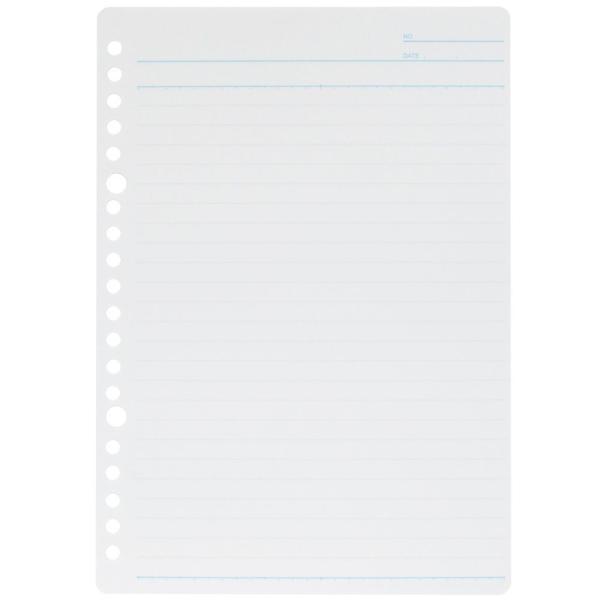 ルーズリーフ 書きやすいルーズリーフ A5 20穴 25行 筆記用紙80g/m2 メモリ入り7mm罫 100枚 L1300H マルマン (DM便 ネコポス1点まで)|artandpaperm|02