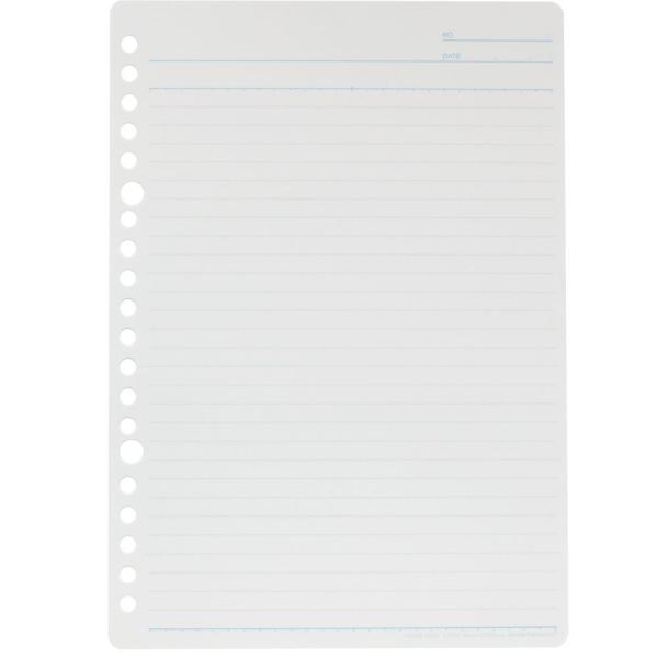『書きやすいルーズリーフ』 A5(20穴) 筆記用紙80g/m2 29行 メモリ入り6mm罫 100枚 L1301H 【maruman/マルマン】[DM便(2)]|artandpaperm|02