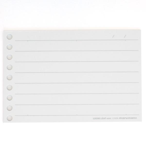 書きやすいルーズリーフミニ B7変形(9穴) 筆記用紙80g/m2 7行 10mm横罫 100枚 L1434 【maruman/マルマン】[DM便(2)]|artandpaperm|02