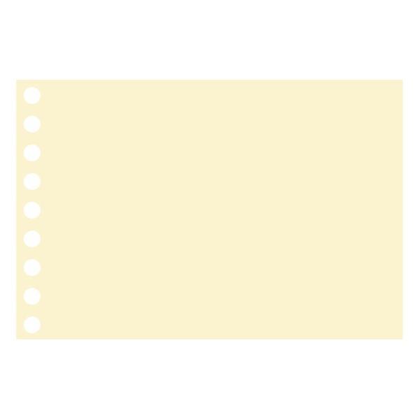 ルーズリーフクロッキーリーフ ミニ 9穴 クリームクロッキー紙 中性紙 L1437 マルマン (DM便 ネコポス2点まで)|artandpaperm|02
