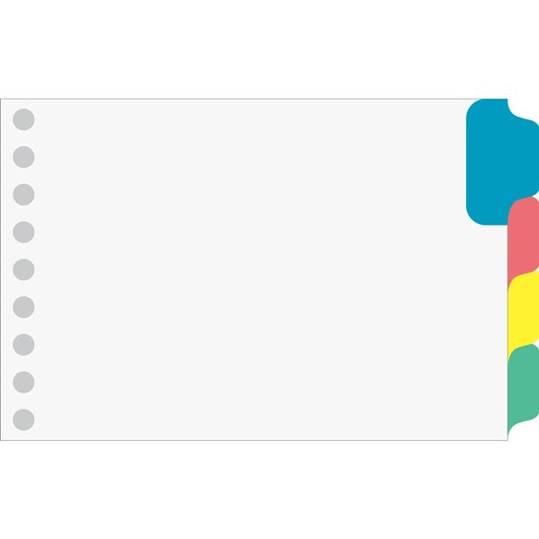 マルマン ルーズリーフ ラミネートタブ インデックス ミニ B7変形(9穴) 4山 LT7004 [DM便(2)]|artandpaperm|02