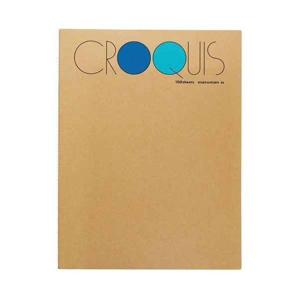 クロッキーブック S・M・Lシリーズ (356X268mm) 白クロッキー紙 52.3g/m2 100枚 SL-02 【maruman/マルマン】[DM便不可]|artandpaperm