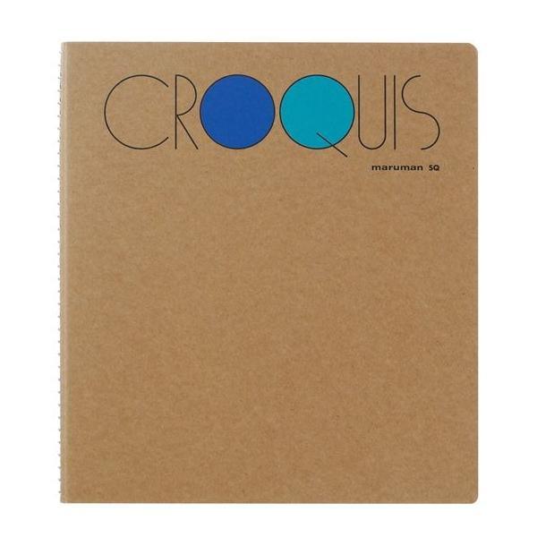 クロッキーブック SQ L判1/4サイズ 白クロッキー紙52.3g/m2 100枚【maruman/マルマン】[DM便不可] artandpaperm