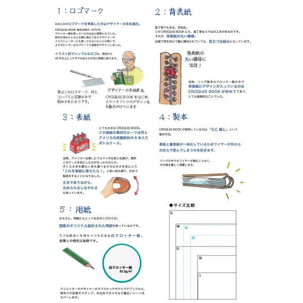 クロッキーブック SQ L判1/4サイズ 白クロッキー紙52.3g/m2 100枚【maruman/マルマン】[DM便不可] artandpaperm 02