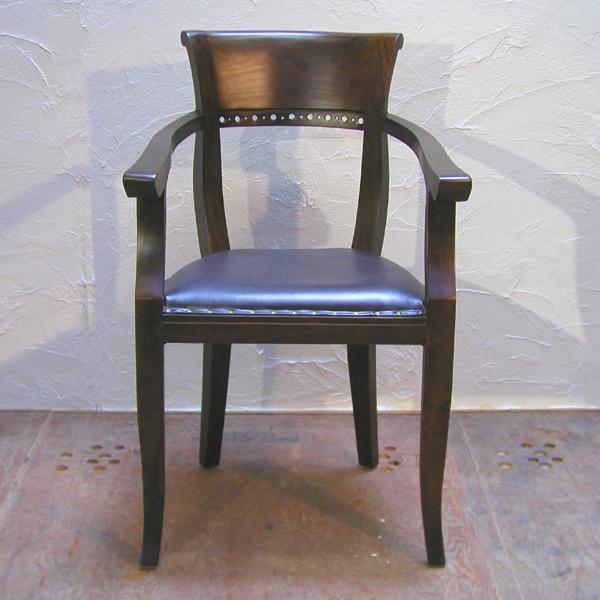 ダイニングチェア・肘掛付食卓椅子・キパスアームチェア・チーク無垢材・牛革・レザーチェア|artcrew|02