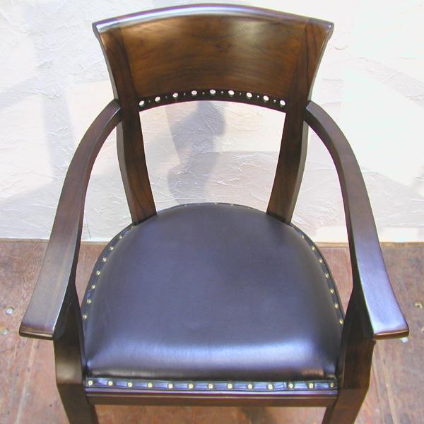 ダイニングチェア・肘掛付食卓椅子・キパスアームチェア・チーク無垢材・牛革・レザーチェア|artcrew|03