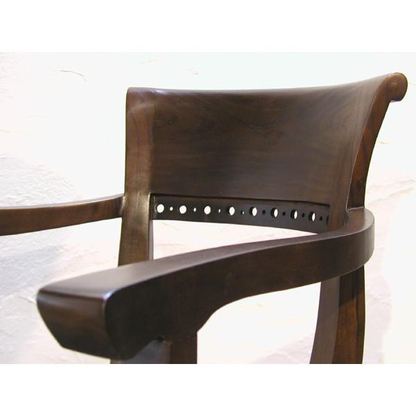 ダイニングチェア・肘掛付食卓椅子・キパスアームチェア・チーク無垢材・牛革・レザーチェア|artcrew|04