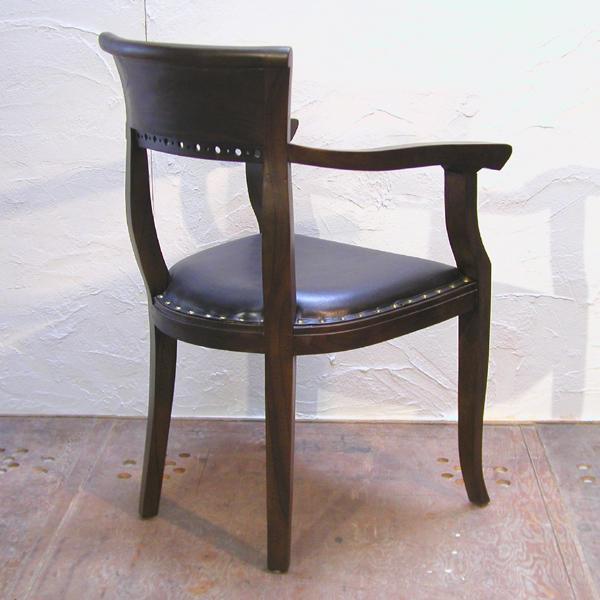 ダイニングチェア・肘掛付食卓椅子・キパスアームチェア・チーク無垢材・牛革・レザーチェア|artcrew|05