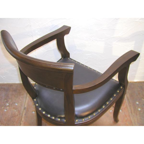 ダイニングチェア・肘掛付食卓椅子・キパスアームチェア・チーク無垢材・牛革・レザーチェア|artcrew|06