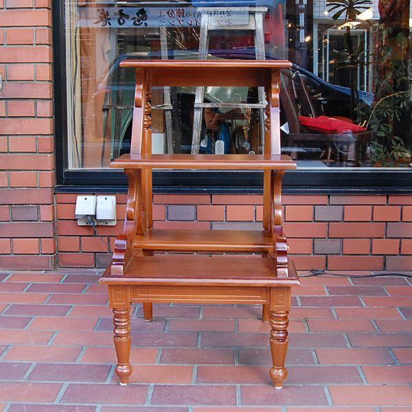 ライブラリーステップ 踏み台 飾り棚 チーク無垢材・天然木・インドネシア直輸入・オリジナル家具|artcrew|02