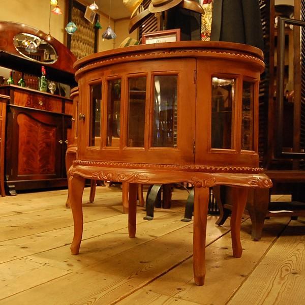 オーバルティーテーブル・・・チーク無垢材・オリジナル家具・インドネシア直輸入|artcrew