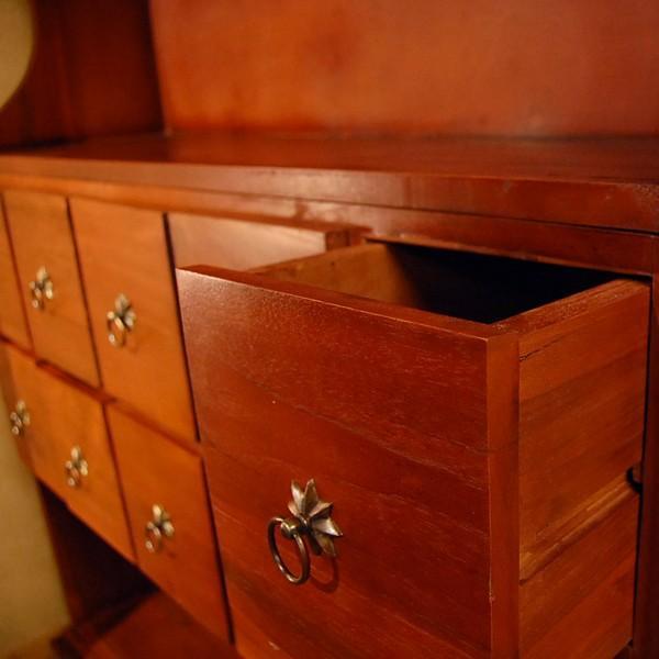 10引出シェルフ・10Drawers Shelf・本棚・カップボード・チーク無垢材・インドネシア直輸入・真鍮金具付 artcrew 04