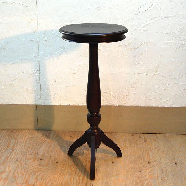 シンプルラウンドテーブルL・バーテーブル・チーク・オリジナル家具・インドネシア直輸入|artcrew