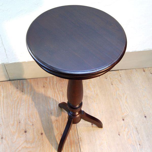 シンプルラウンドテーブルL・バーテーブル・チーク・オリジナル家具・インドネシア直輸入|artcrew|02