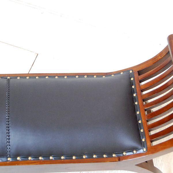 カウチベンチ レザーベンチ2人掛け・・・チーク&レザー・オリジナル家具・インドネシア直輸入|artcrew|04