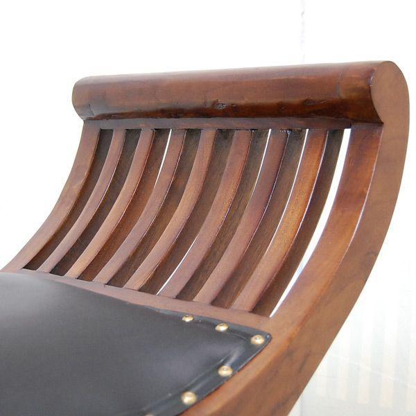 カウチベンチ レザーベンチ2人掛け・・・チーク&レザー・オリジナル家具・インドネシア直輸入|artcrew|05