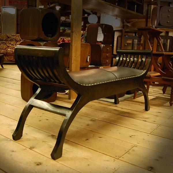 Crab Leather Bench 2st  クラブレザーベンチ2人掛け・・・チーク&レザー・オリジナル家具・インドネシア直輸入|artcrew|02