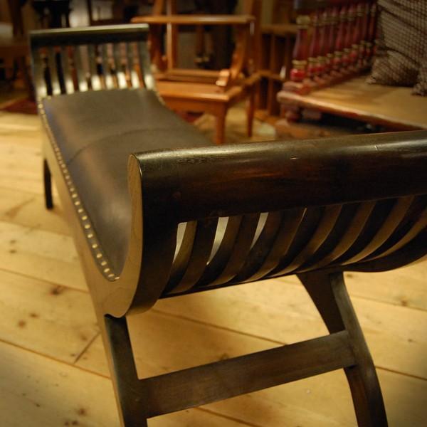 Crab Leather Bench 2st  クラブレザーベンチ2人掛け・・・チーク&レザー・オリジナル家具・インドネシア直輸入|artcrew|03