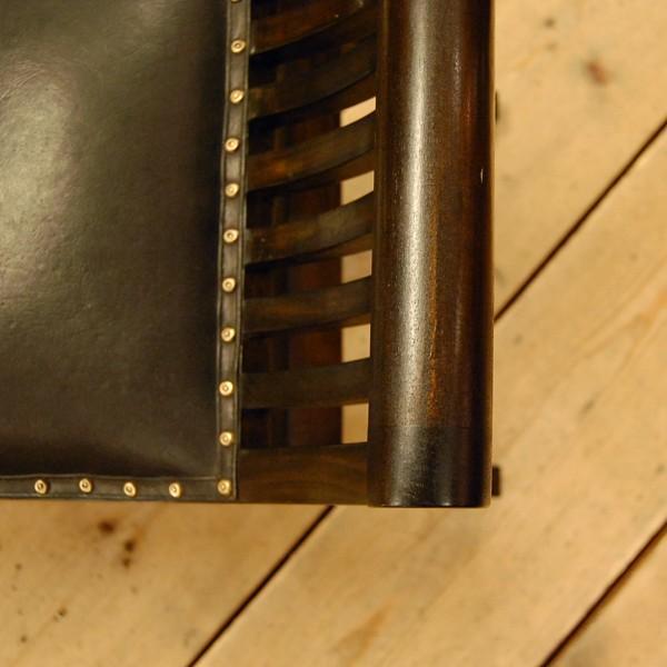 Crab Leather Bench 2st  クラブレザーベンチ2人掛け・・・チーク&レザー・オリジナル家具・インドネシア直輸入|artcrew|04
