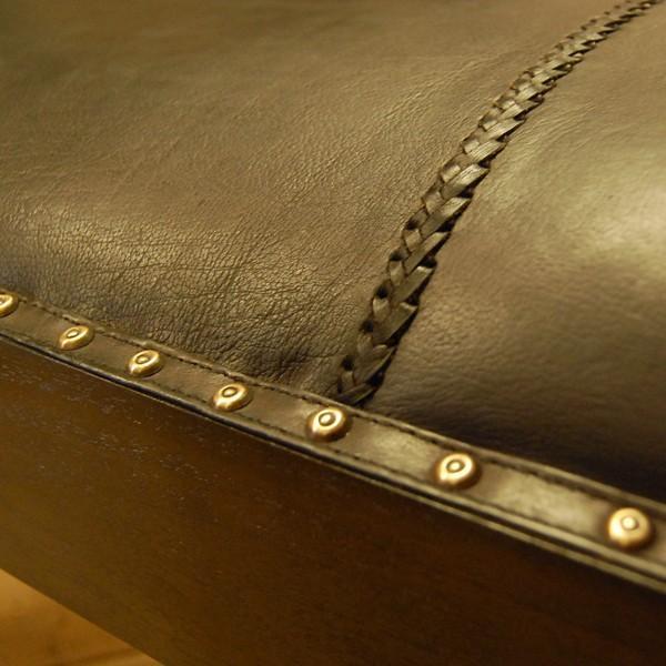 Crab Leather Bench 2st  クラブレザーベンチ2人掛け・・・チーク&レザー・オリジナル家具・インドネシア直輸入|artcrew|05