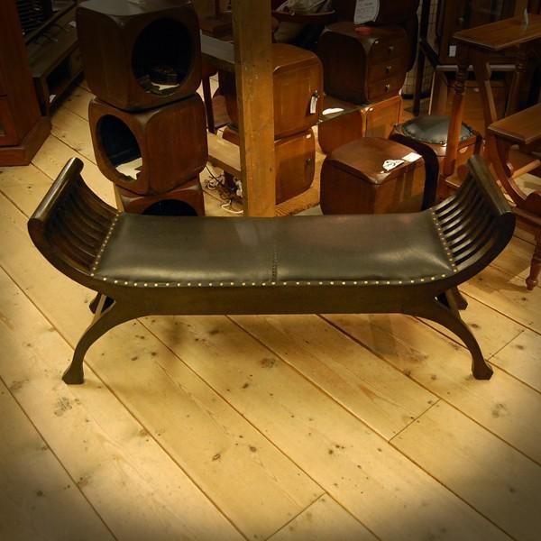 Crab Leather Bench 2st  クラブレザーベンチ2人掛け・・・チーク&レザー・オリジナル家具・インドネシア直輸入|artcrew|06