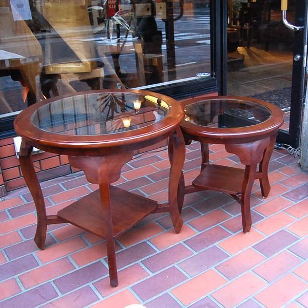 ラウンドテーブル カフェテーブル サイドテーブル ガラステーブル コーヒーテーブル 濃茶 JAVA GLASS TABLE L オリジナル家具 インドネシア直輸入|artcrew|04