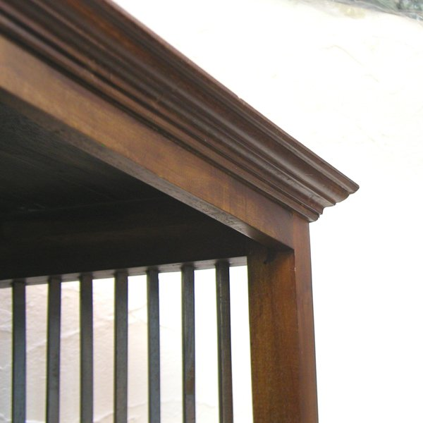 ブックケース・BOOK CASE DOUBLE・本棚引出し付・チーク無垢材・インドネシア直輸入・真鍮金具付|artcrew|06