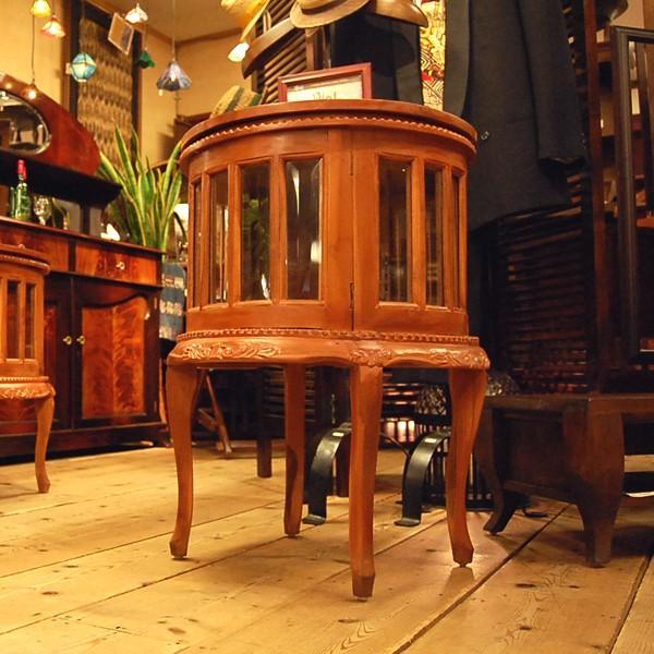ラウンドティーテーブル・・・チーク・オリジナル家具・インドネシア直輸入|artcrew