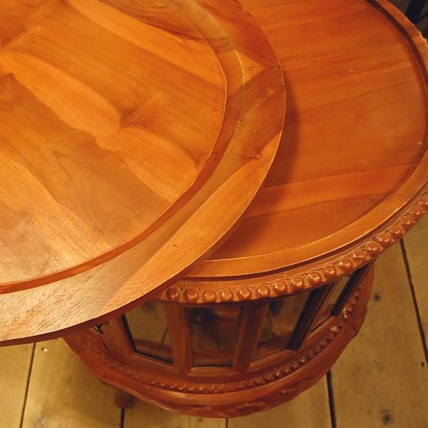 ラウンドティーテーブル・・・チーク・オリジナル家具・インドネシア直輸入|artcrew|04