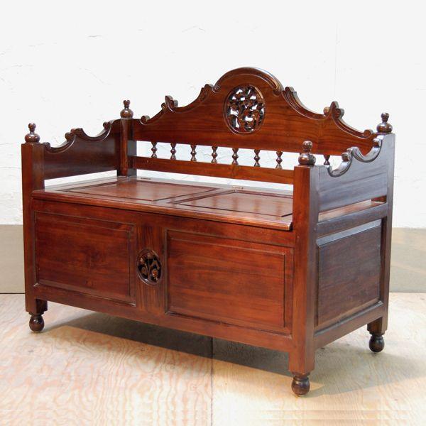 ベンチボックス・ジャバボックスベンチ・・・シューズボックス・宝箱・チーク無垢材・オリジナル家具・インドネシア直輸入|artcrew