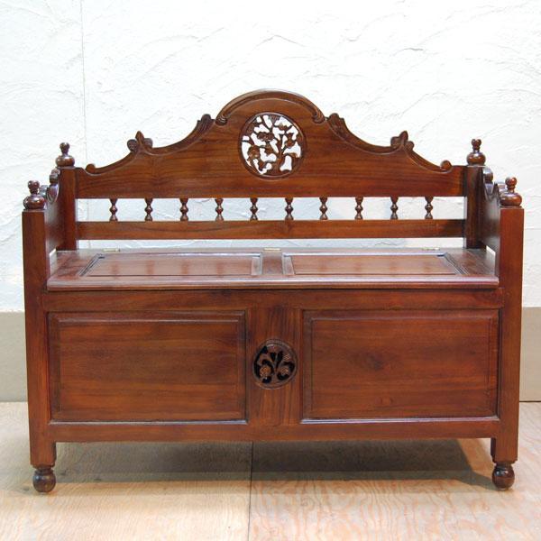 ベンチボックス・ジャバボックスベンチ・・・シューズボックス・宝箱・チーク無垢材・オリジナル家具・インドネシア直輸入|artcrew|02