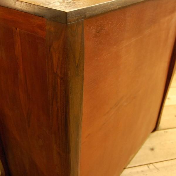 4引出しチェスト・サイドボード・チーク無垢材・インドネシア直輸入・真鍮金具付|artcrew|05