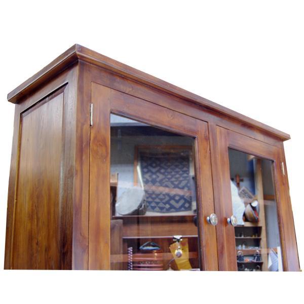 キッチンハッチ・キッチンキャビネット・食器棚・引出し付・チーク無垢材・インドネシア直輸入・真鍮金具付|artcrew|05