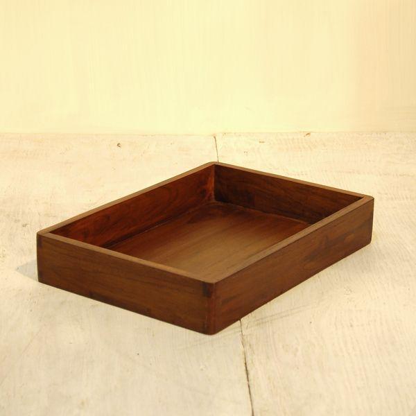 ボックストレーS・引出・整理箱・道具箱・チーク無垢材・インドネシア直輸入|artcrew