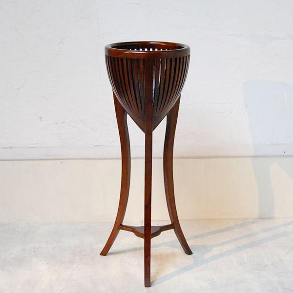 プラントスタンドL・鉢カバー・チーク・無垢材・オリジナル家具・インドネシア直輸入・ディスプレイ artcrew