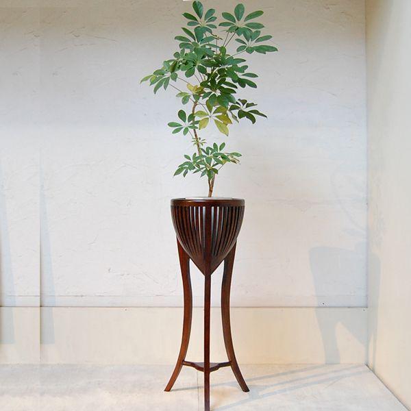 プラントスタンドL・鉢カバー・チーク・無垢材・オリジナル家具・インドネシア直輸入・ディスプレイ artcrew 06