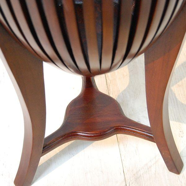 プラントスタンドS・鉢カバー・チーク・無垢材・オリジナル家具・インドネシア直輸入・ディスプレイ|artcrew|04