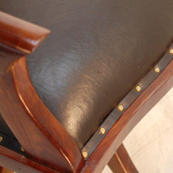 オフィスチェア・回転デスクチェア・チーク&レザー・インドネシア工房直輸入・オリジナル家具|artcrew|06