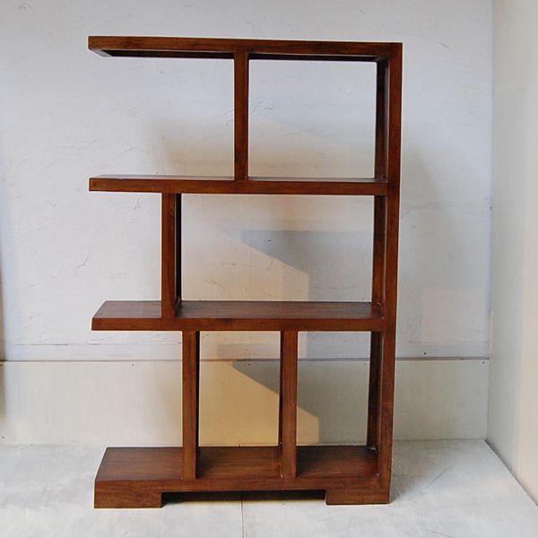 ブックケースL-R・本棚・飾り棚・チーク無垢材・インドネシア直輸入|artcrew|03