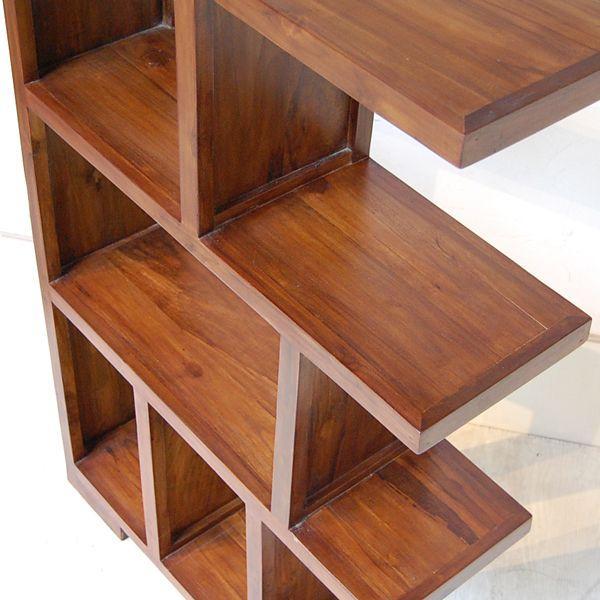 ブックケースL-R・本棚・飾り棚・チーク無垢材・インドネシア直輸入|artcrew|04